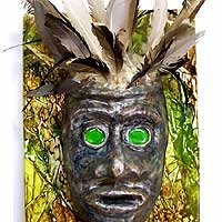 witch doctor green eyed mask